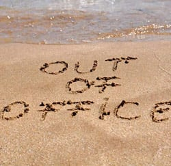 out of office vrije dagen