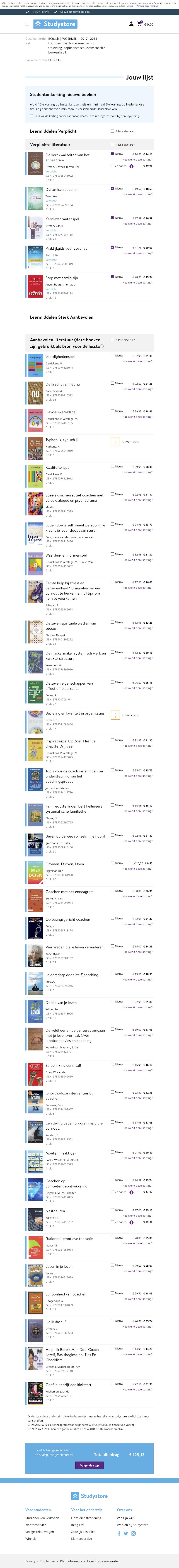 Boekenlijst BCoach