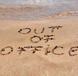 out of office vrije dagen
